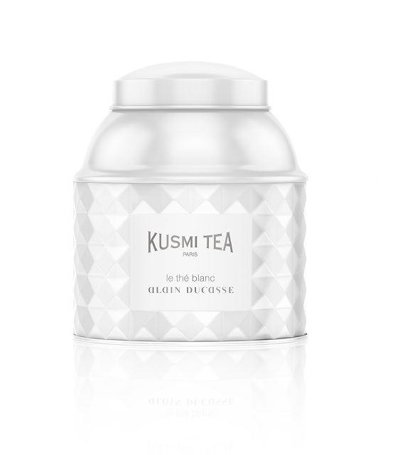 Weiße Teedose von Kusmi Tea