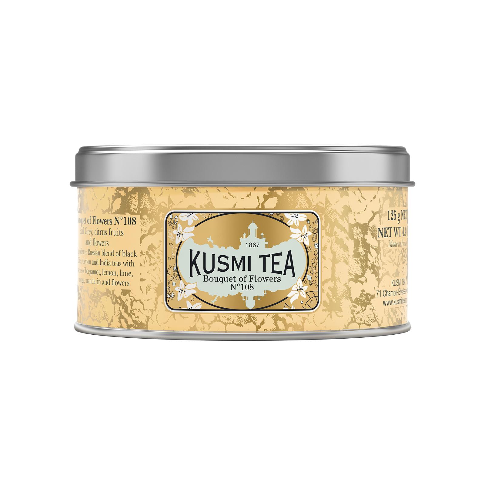 Hellorangene Teedose von Kusmi Tea